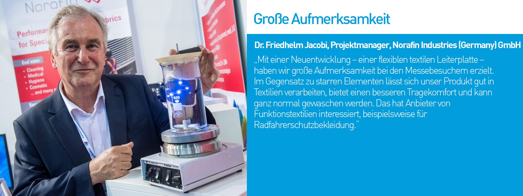 Dr. Friedhelm Jacobi, Projektmanager, Norafin Industries (Germany) GmbH